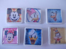 6 HANDMADE  DISNEY PINS MICKEY MINNIE DONALD DAISY PLUTO AND GOOFY FREEPOST UK