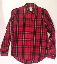 VTG Moschino Cheap & Chic Red Plaid Sateen Shirt Made In Italy SZ 8