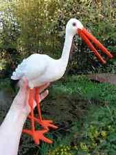 Rarität großer STEIFF Storch Adebar 35 cm KNOPF & Fahne c1961 Glasaugen stork