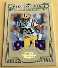 2008 Donruss Playoff Football Chevis Jackson Game-Used Jersey Card 039/250