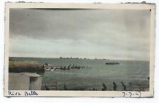 D030 Photo vintage Originale Tinted colorisé Riva Bella Corse ? Saint Laurent ?