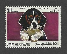 Cute Dog Art Head Study Portrait Postage Stamp BEAGLE HOUND Umm Al Qiwain MNH