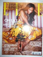 Magazine mode fashion ELLE French #3108 juillet 2005 Naomi Campbell
