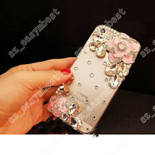 3D Luxury Fashion Bling Rhinestone Jewelled Crystal Clear Case Cover For Samsung