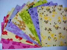 14pcs.HANDMADE THICK MULBERRY WRAPPING PAPER SHEET CARD SCRAPBOOK CRAFT