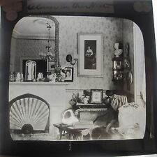 A Corner in the Nest Stately Home Interior Edwardian Glass Magic Lantern Slide