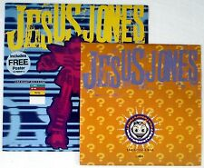 "JESUS JONES - WHO? WHERE? WHY? NO'D 10"" SINGLE + THE RIGHT DECISION 12"" + POSTER"
