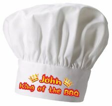 Personalised KING of the... Chef Hat  Great Christmas gift Full colour printing