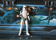 STAR WARS Figura ANIMATA Clone Wars bikerscout Clone Trooper