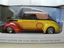 SPEC CAST - SHELL OIL COMPANY - 1937 FORD STREET ROD - 1/25 DIECAST BANK