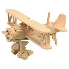 New Balsa Wood 3D Puzzle Educational Toy Assembly Airplane Gift