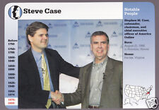 STEVE CASE Co-founder & CEO of AOL (America On Line) Photo STORY OF AMERICA CARD