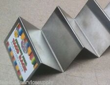 SOFT or HARD TACO SERVING MAKE-UP RACK 2 to 3 TACOS SHELLS STAINLESS SERVER