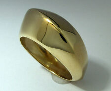R012 CHIC & RETRO Genuine 9K Yellow Gold Waved High DOME Ring size N