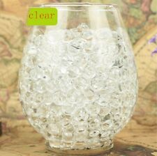 NEW 600pcsClear Crystal Soil Gel Jelly Ball Water Pearls Wedding Home Decor ZR1