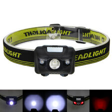 Black 600LM R3+2LED Mini Headlight Headlamp Flashlight Torch Light Lamps 4 modes