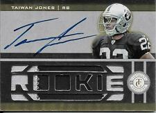 2011 Totally Certified Gold #232 Taiwan Jones 2 Color Patch Autograph RC #05/24