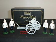 BRITAINS 8914 4.5 HOWITZER GUN + FOREIGN SERVICE REVIEW ORDER TOY SOLDIER SET