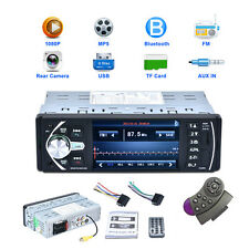"""4.1"""" 1 DIN Bluetooth Touch Screen Auto Car In Dash Stereo MP5 Radio Player 12V"""