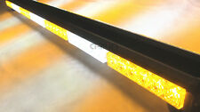 DOUBLE SIDE 252W LED WORK LIGHT BAR TOP BEACON WARNING STROBE LIGHTS AMBER&WHITE