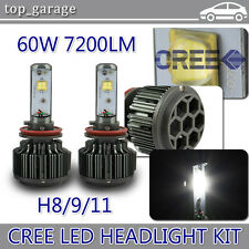 H11 60W LED Headlight Bulbs Kit for Chevy Silverado Suburban Impala Malibu Sonic
