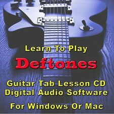DEFTONES Guitar Tab Lesson CD Software - 85 Songs