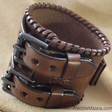 Leather Watch Cuff Bracelet Custom Johnny Depp Style!