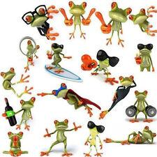 1Pc New 3D Frog Car Auto Body Window Door Decals Truck Graphics Stickers Random