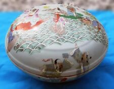 "GORGEOUS CHINESE EXPORT HUGE 12 1/2"" DOME TOP PORCELAIN COVERED BOWL CIRCA 1895"