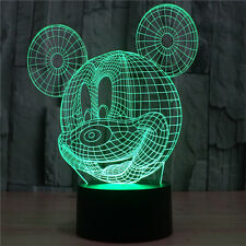 3D LED Mouse Bulbing Bedroom Night Desk Light Lamp Disney-Mickey 7Color Changing