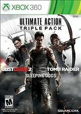 Just Cause 2 Sleeping Dogs and Tomb Raider Triple Pack XBOX 360 BRAND NEW