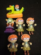 1998 RUGRATS ANGELINA REPTAR  CHUCKY Burger King Toy Lot of 6