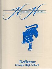 Oswego Community High School Yearbook 1990 Oswego, IL Illinois (Reflector)
