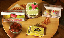 Kitchen 3 Box Set Sweets Food 10pc Dollhouse Chocolate Box Donuts 1:12 Miniature