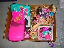 HUGE LOT OF BARBIE DOLLS, CLOTHES, CARS, AND ACCESSORIES  *****TONS OF FUN!!!
