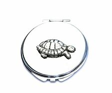 Tortoise  Compact Mirror Ladies Gift FREE ENGRAVING in Jewellery Pouch