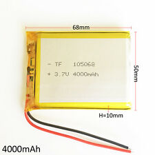 3.7V 4000mAh Lipo Polymer Rechargeable Battery for power bank Tablet PC 105068
