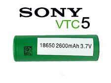 100% Genuine SONY VTC5 BATTERY 2600 MAH RECHARGABLE HIGH DRAIN 30 AMP 3.7V GREEN