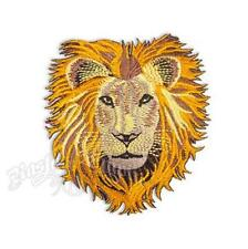 IRON ON/SEW ON - LION HEAD - EMBROIDERED WOVEN PATCH AFRICA JAMAICA MARLEY