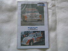 NEW 1:43 METRO 6R4 Decals Teesdale 1986 RAC Rally Motorsport