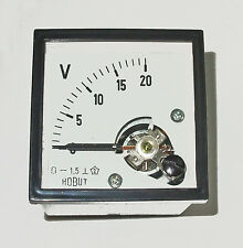 Voltmeter  0-20volts  DIN48  Industrial, Domestic, Auto, Marine    DCV20