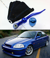 88-00 HONDA CIVIC BLUE DUAL BEND SHORT SHIFTER + JDM BLUE SHIFT KNOB+ SUEDE BOOT