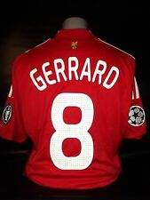 Liverpool 2008-10 champions league home shirt GERRARD 8  5 times winners