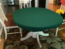 poker felt table covers for Round Table w/ Leaf Insert - oval pill shape