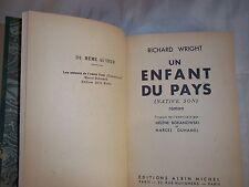 """""""UN ENFANT DU PAYS"""" RICHARD WRIGHT (1947) RELIURE / NATIVE SON"""