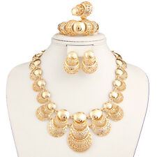 Dubai 18K Gold Plated Statement Big Necklace Set For Women African Jewelry Sets