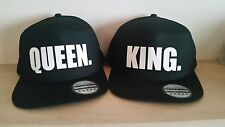 KING  and QUEEN Snapback Pair Fashion PRINTED Snapback Caps Hip-Hop Hats