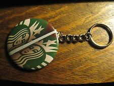 Starbucks Keychain - Repurposed Coffee Cafe Logo Ad Backpack Purse Clip Ornament