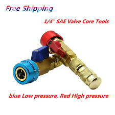 Car R134a Air Conditioning Valve Core Quick Remover Installer High Low Pressure