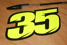 Crutchlow Number 35 Race Number - Flo Yellow